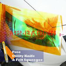 "*12""x12"" Neo Amber Orange Headlight Taillight Fog Light Vinyl Tint DIY Film"