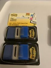 Post It 1 Blue Flags With Pop Up Dispenser 2 Packs 50 Flags Per Pack