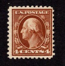 Oas-Cny 8442 Scott 465 – 1916-17 4c Washington, orange brown, perf 10 Mh $62
