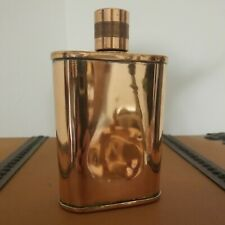 Genuine JACOB BROMWELL Vermonter Flask 8 oz Pure Copper Hand Made in the US