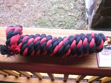 WEAVER RED AND BLACK 10'+ COTTON LEAD ROPE WITH GOLD BRASS SNAP HORSE TACK ,Dog