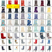 Stretch Spandex Chair Covers Removable Slipcover Seat Cover Dining Room Decor