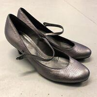 Monsoon Faux Snakeskin Cone Heels Size UK 5 EU 38 Shoes Metallic Evening Dress