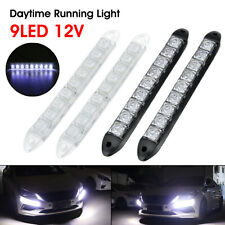 2x 9 LED DRL Front Fog Driving Daylight Daytime Running Light Car Auto Head Lamp