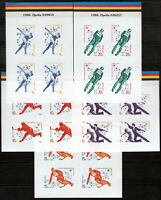 Wholesale 5 different RUSSIAN IMPERF PROOF STAMPS  Olympics, FULL SET MNH OG