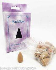 Back Flow Incense Cones Pack Of 20 Sandal, Rose, Lavender, Jasmine Scent