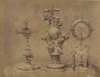 Seville Sevilla Oggetti sacerdoti Spagna Vintage albumina ca 1880
