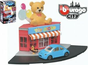 Bburago Build Your City - Toy Store Bausatz 1:43 mit VW New Beetle