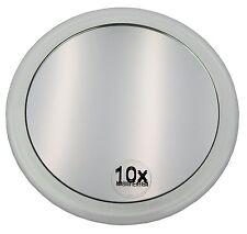 Specchio Ingrandente 10x da Trucco, con Ventosa per Ogni Superficie, Removibile