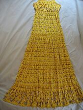 Juicy Couture 'Abigail' Maxi Dress Sz S Yellow Floral Print Beautiful & Rare NEW