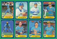 1986 FLEER MILWAUKEE BREWERS TEAM SET NM/MT  FINGERS   MOLITOR   SIMMONS  YOUNT
