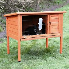 Trixie Natura Outdoor Indoor Portable Wooden 1-Story Rabbit Hutch Cage NEW NEW