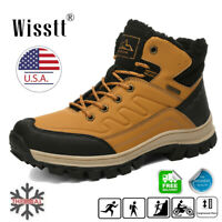 Mens Winter Snow Boots Warmming Cotton Shoes Hiking Sneaker High Top Size 6.5-13