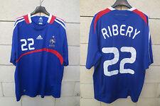 Maillot EQUIPE DE FRANCE 2008 ADIDAS football shirt trikot RIBERY n°22 maglia XL