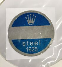 ROLEX 1625 Steel Caseback Blue Sticker Certificate Turn-O-Graph Thunderbird NOS