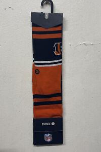 Stance Mens NFL Bengals Logo Socks M(6-8.5) Orange Cotton Blend