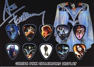 ACE FREHLEY - KISS - A5 SIZE  - GUITAR PICK DISPLAY
