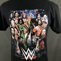 WWE Raw Wrestling Superstars T-Shirt Mens Medium Roman Reigns John Cena Fighters