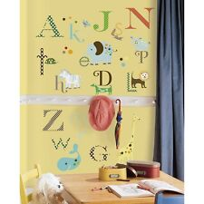 ANIMAL ALPHABET WALL DECALS 107 NEW Letters Animals Stickers Baby Nursery Decor