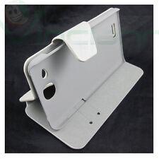 Custodia FLIP pelle bianca STAND per Alcatel OneTouch Idol Ultra ot 6033 6033X