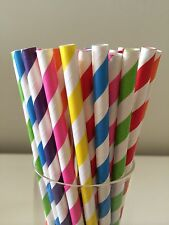 50  Bright Rainbow Paper Straws Wedding/Party/Events