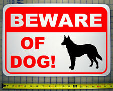 "BEWARE OF DOG GERMAN SHEPHERD 12""X18"" ALUMINUM SIGN"