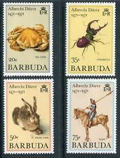 Barbuda 1971 MNH Paintings by Durer Sea Crab Young Hare Stag beetle Rider x12038