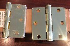 Polished Brass Hinge Corner Plain Bearing Mortise Box of 4