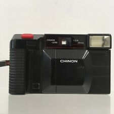 CHINON Black 35F II 35mm Film Auto Focus Vintage Compact Camera 351305