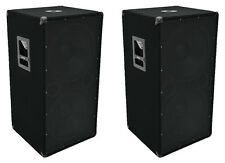 "2 x OMNITRONIC BX-2550 2 x 15"" 1200W SUBWOOFER BASS Bin PA Impianto Audio Da Discoteca DJ"