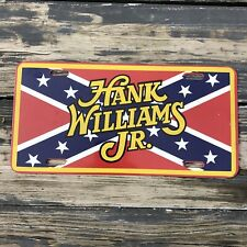 1970s 1980s HANK WILLIAMS JR FRONT LICENSE PLATE COUNTRY MUSIC SOUTHERN HERITAGE