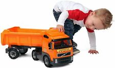 Toy Dump Truck With Trailer Play Car Set Large