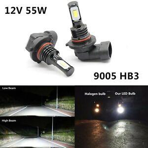 2X HB3 9005 55W 12V Xenon HID White 6000K Car Headlight Lamp Globes Bulbs LED
