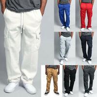 G-Style USA Men's Jogger Heavy Weight Fleece Cargo Pocket Sweat Pants Trousers