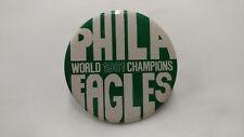 1981 Philadelphia Eagles World Champions Green Pin Error NOS