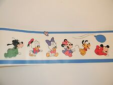 Vintage Mickey Mouse And Friends Wallpaper Border Walt Disney Co. 18yds 1984