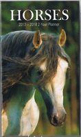 HORSES 2017-2018 - 2 YEAR POCKET PURSE CALENDAR AGENDA PLANNER APPOINTMENT BOOK*