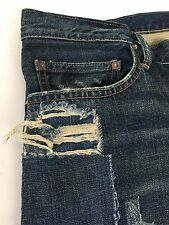Men's 36 X 32 Vintage Patchwork Slim Rugby Polo Ralph Lauren Blue Denim Jeans