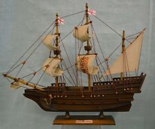 """Elizabethan Galleon 14"""" Wooden Tall Ship Model Boat Historic Accurate COLLECT"""
