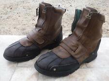 Polo Ralph Lauren Darrance II Double Zipper Mens Leather Winter Boots 12 D