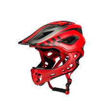 RockBros Child Cycling Helmet Kids Removable Full Helmet Red Size M 54-58cm