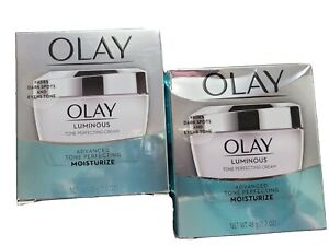 2X Olay Luminous Tone Perfecting Cream Advanced Face Moisturizer, 1.7 oz