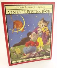 Favorite Nursery Rhymes Vintage Poster Book, 12 posters, 27x35 cm, poster-weight