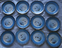"""OLD THEO. HAVILAND LIMOGES 12 FISH PLATES SET, HAND PAINTED, SIGNED B. ALBERT 9"""""""