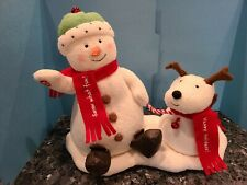 Collectible Hallmark Jingle Pals Duo Animated Singing Snowman & Barking Dog Used