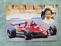 Gilles Villeneuve AUTOMOBILISMO FORMULA UNO Cartolina Postcard NON VIAGGIATA #L1