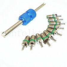 10pcs Car R134a A/C Air Conditioning Valve Core & 1pc Remover Repair Tool