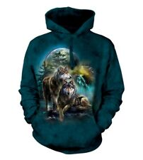 The Mountain Unisex Adult Wolf Lookout Animal Hoodie