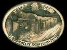 SOUTHERN PACIFIC ROTARIES SPMW 207 & 209 (SOLID BRONZE BELT BUCKLE) #274/300