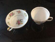 Royal Vale, Noritake, Crown Staffordshire, Zeller Crest Tea Cups (Lot of 4)